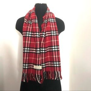 Auth Burberry Of London Merino Wool Cashmere Scarf